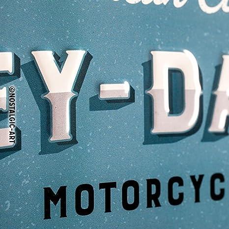 /Logo Blue Nostalgic-Art 23244 Plaque en m/étal 30/x 40/cm Harley-Davidson/