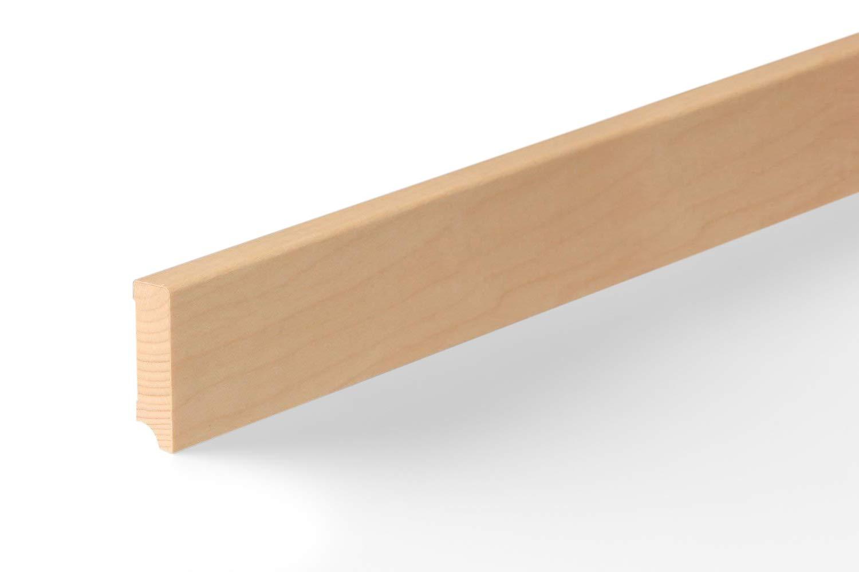 KGM Sockelleiste Nussbaum Echtholz   Fuß leiste 58mm Modern ✓Echtholz Fichte Trä ger ✓Furnier Holz Oberflä che ✓Parkettleiste   Sockelleisten Laminat & Parkett   Holzleisten Nussbaum 16x58x2500mm