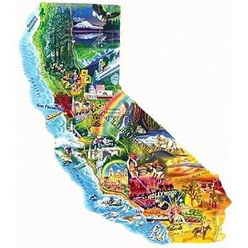 Amazon com: Hennessy Puzzles California Map Jigsaw Puzzle