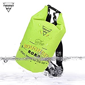 Forbidden Road 2L 5L 10L 15L 20L Waterproof Dry Bag ( 8 Colors) Dry Sack Roll Top Dry Compression Sack Keeps Gear Dry for Kayaking Boating Camping Canoeing Fishing Skiing Snowboarding