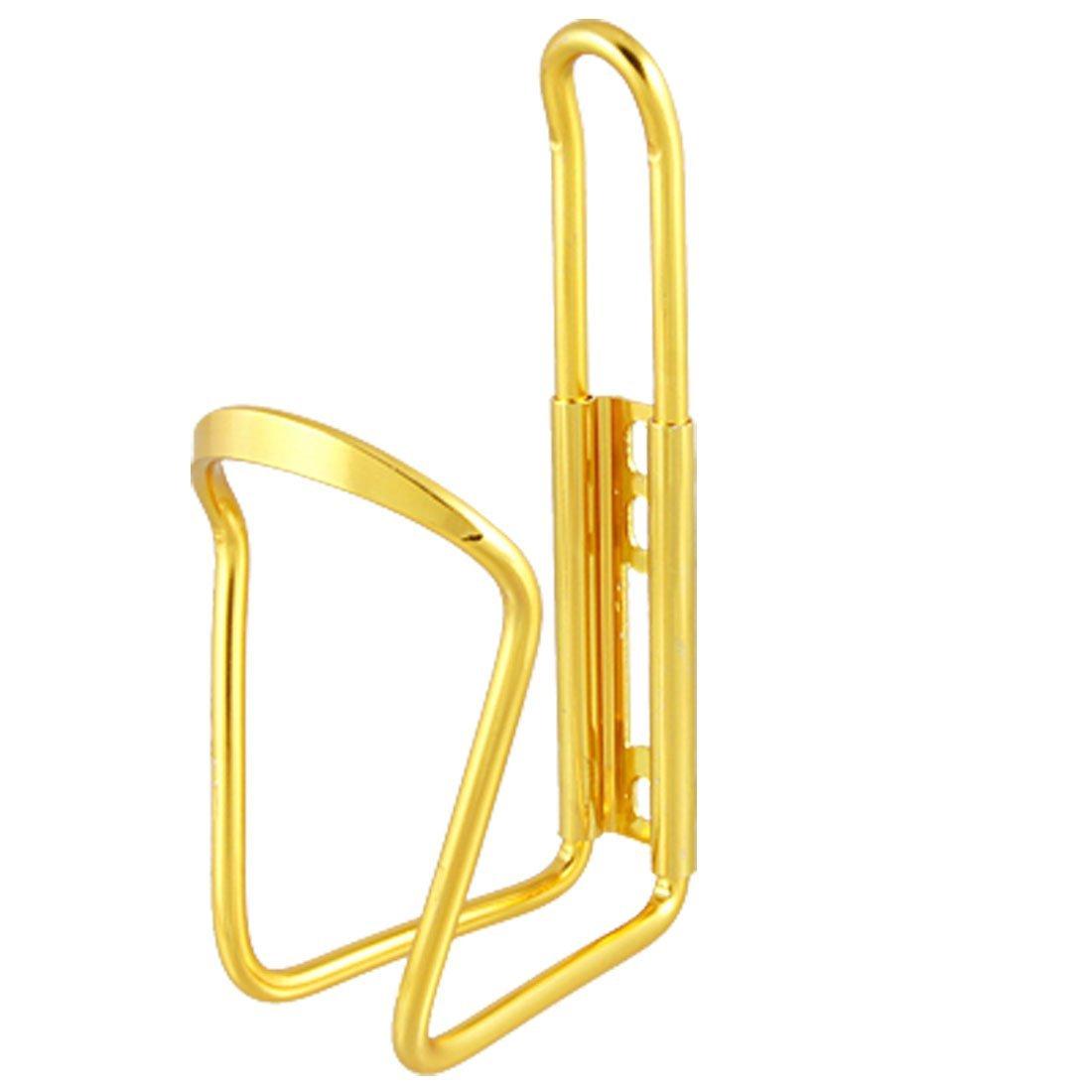 Botella para bicicleta de agua puede aleación de aluminio de la jaula del sostenedor del estante de dorado