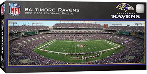 MasterPieces NFL Baltimore Ravens 1000 Piece Stadium Panoramic Jigsaw (M&t Bank Stadium)