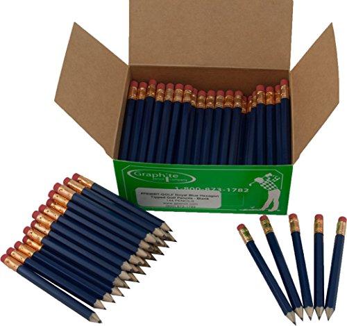 Half Pencils Sharpened Hex (Golf Pencils, Pew Pencil, Score Pencil, Short Pencil) (Royal (Hex Golf Pencils)