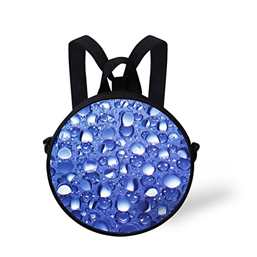 Girls Round Backpack FancyPrint for Women Animals Circle W8cd0563i Print for Bag UzRSzn