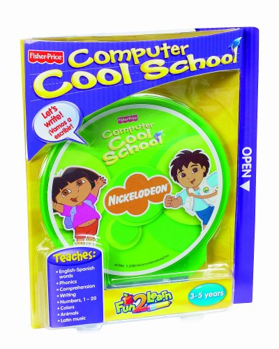 Fisher-Price Fun-2-Learn Computer Cool School Dora and Diego - Fun 2 Learn Computer