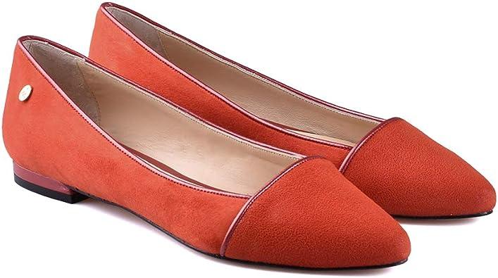 ANNA MILAN Bailarinas Color Orange Plantilla Gel Fabricación Artesanal en España Colección Exclusiva Limitada: Amazon.es: Zapatos y complementos