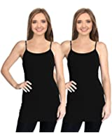 Cami Camisoles Tank Tops for Women Adjustable Spaghetti Strap Tunic Long Tank Tops