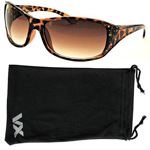 de moda Rhinestones de la deporte gafas mujer marrón voz Gafas sol diseño 4CdSq4wU
