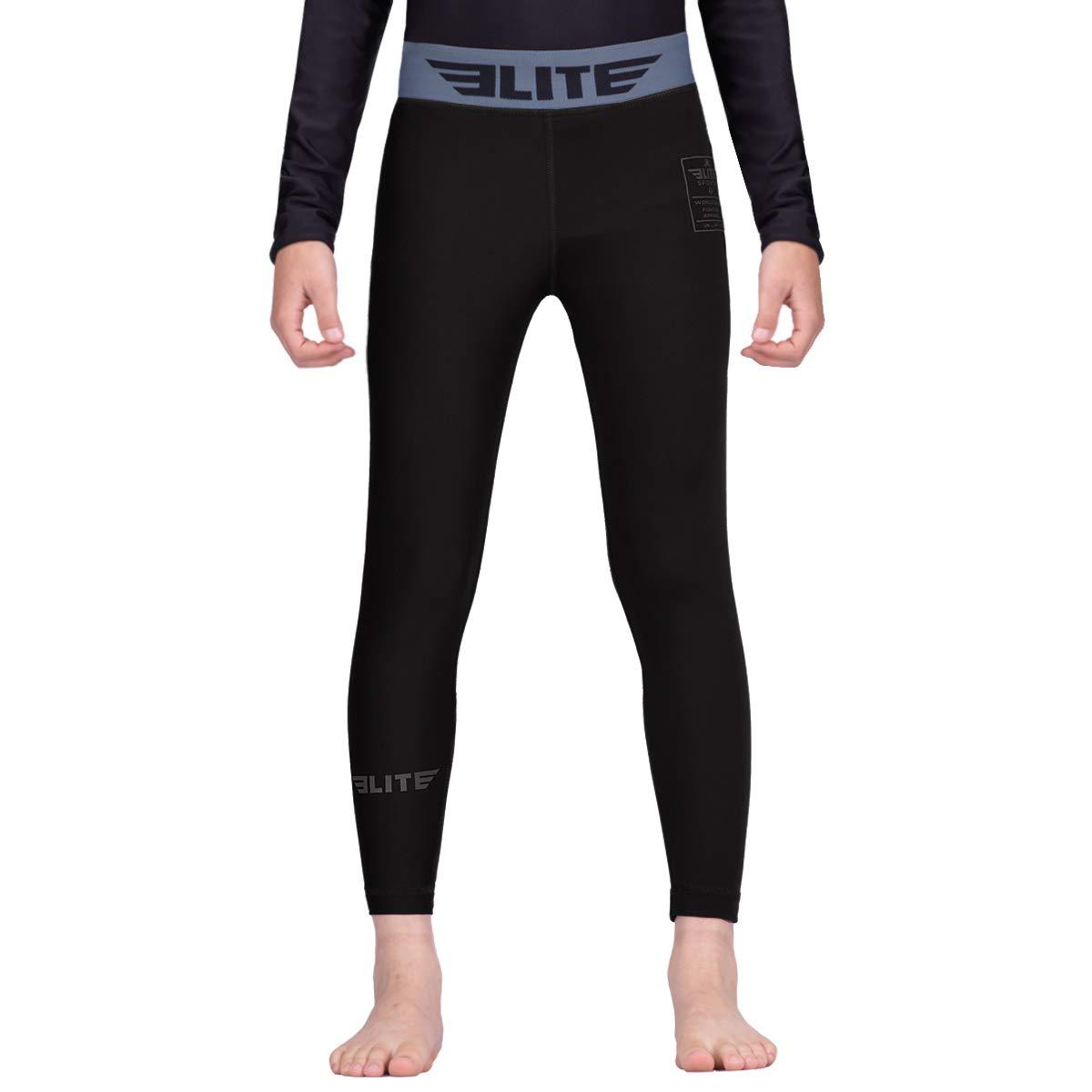 Kids Jiu Jitsu Compression Base Layer Training Workout Pants Elite Sports Kids MMA BJJ Athletic Spats Leggings Tights