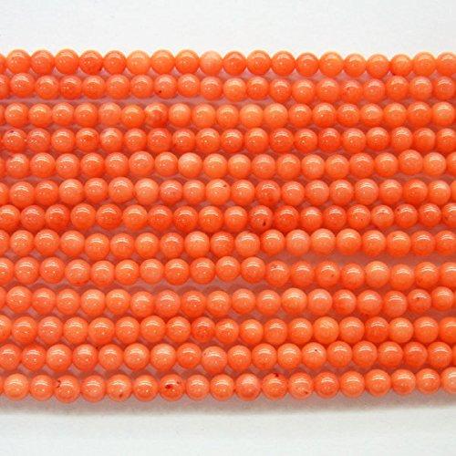 Round Black Coral Necklace - 7