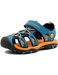 Boys Girls Outdoor Sport Closed-Toe Sandals Kids Breathable Mesh Water Athletic Sandals Shoes