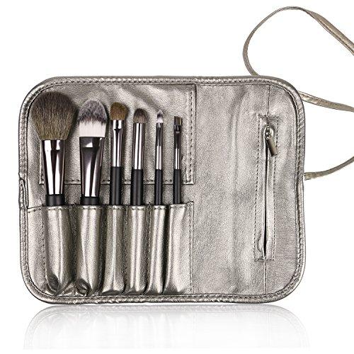 Docolor Wooden Handle Professional Makeup Brush Set – 6 (6 Piece Makeup Set)