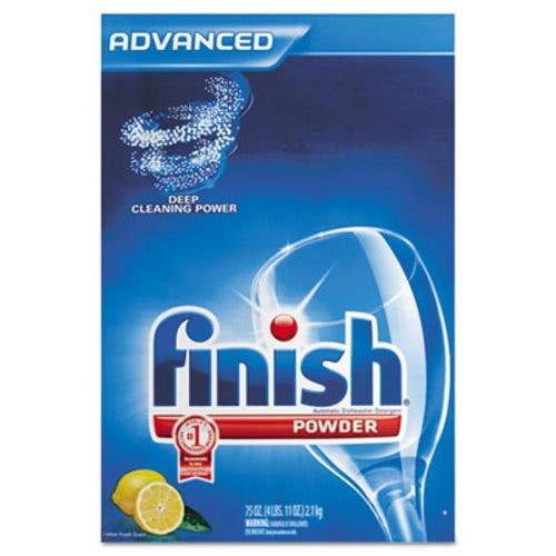 FINISH Electrosol Automatic Dishwasher Detergent, Lemon Scent, Powder, 2.3 qt. Box - Includes six per case.