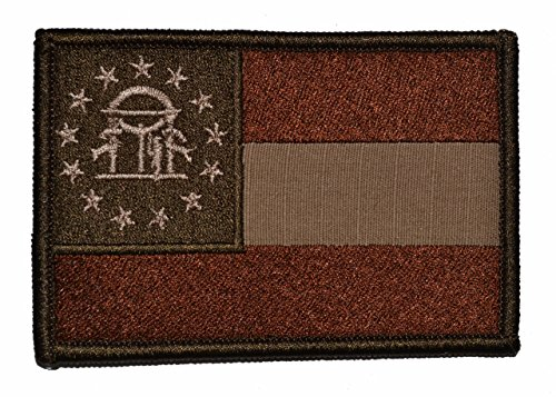 UPC 739810108803, Georgia State Flag - 3x2 Hat Patch - Coyote