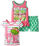 Nickelodeon Girls' 3 Piece Love Turtles Short Set