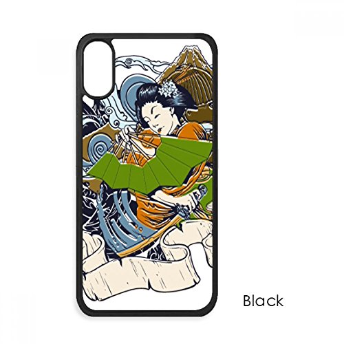 (Japan Kimono Woman Samurai Sword For iPhone X Cases Phonecase Apple Cover Case Gift)