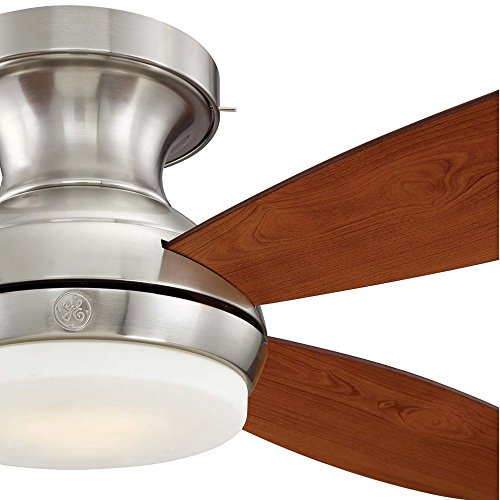 "GE Pierson 52"" Brushed Nickel LED Indoor Ceiling Fan with SkyPlug Technology for Instant Plug and Play Mounting"