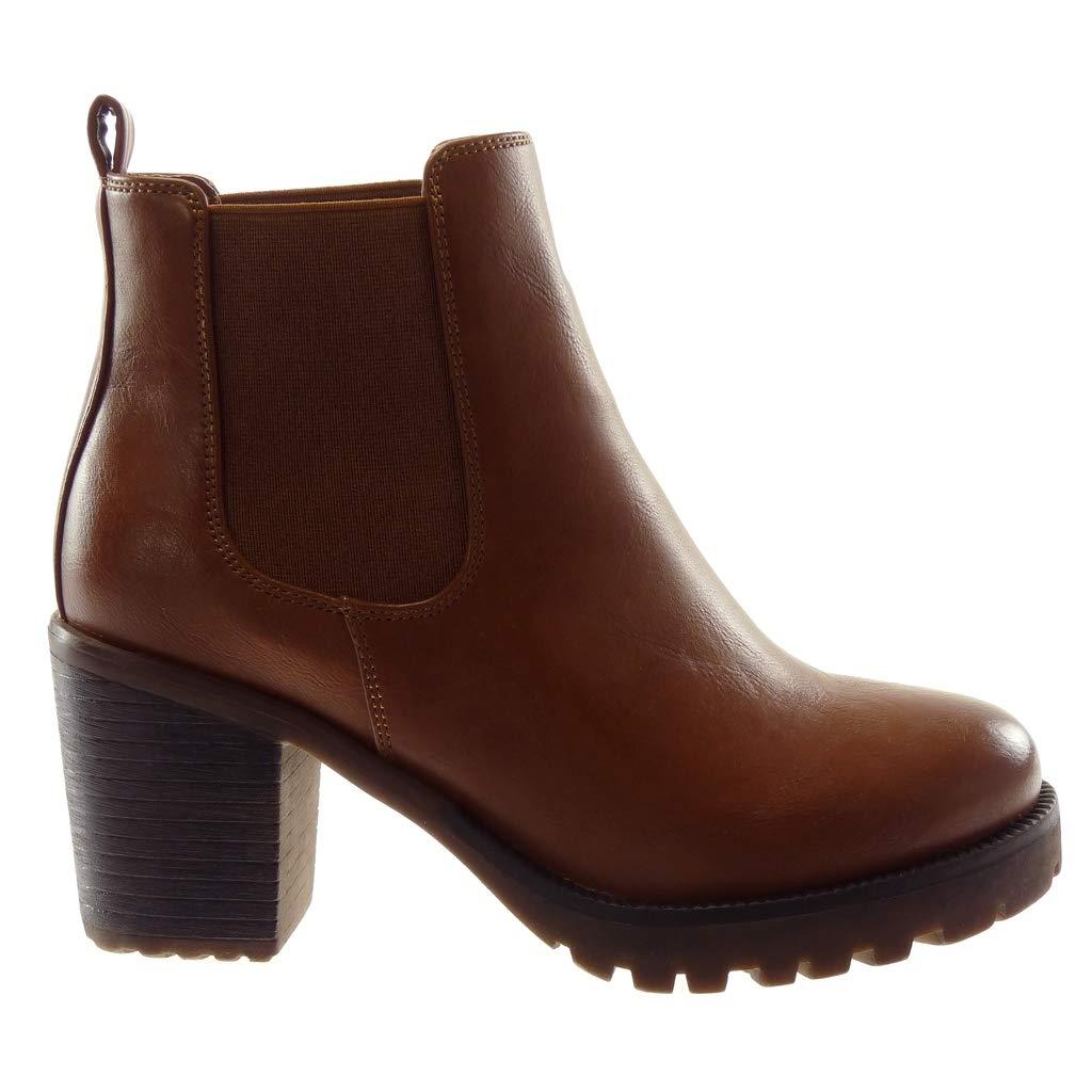 Bottines Moyen Talon Carrés Cuir Femme En Bottes Socofy Boots 0nR8EfY