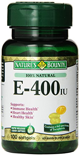 Nature's Bounty Natural E-complex, 400-IU, 100-Count](Natural Vitamin E Capsules)