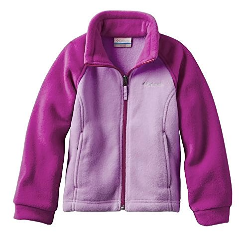 Columbia Fleece Jacket Three Lakes Full Zip Fleece Girls XXS (4/5) Pink