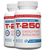 T 250 Muscle Building Supplement Fat Burner,120 Capsules, (Pack of 2)