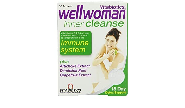 Amazon.com: Wellwoman Vitabiotics Inner Cleanse 30 Tablets by Wellwoman: Health & Personal Care