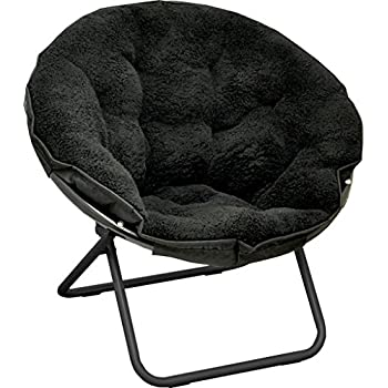 saucer chair sherpa urban amazon metal fur faux chairs frame accent living room