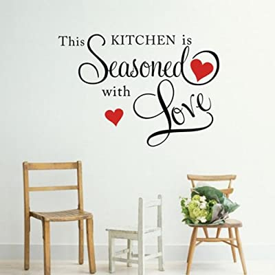 This Kitchen is Seasoned with Love Wall Quote Sticker