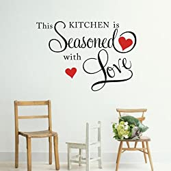 Decalgeek This Kitchen is Seasoned with Love Wall Quote Sticker