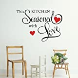 Kitchen Decor Stickers Picniva This Kitchen is Seasoned with Love Wall Quote Sticker