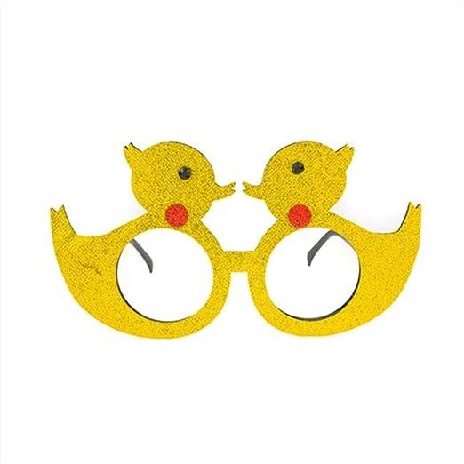 P-WEIAN Gafas de Disfraces Fiesta Festival Divertido Pato ...