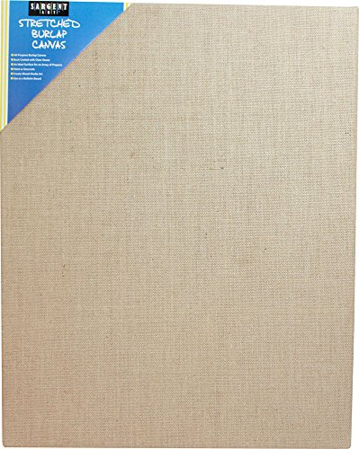 Brown Stretched Canvas (Sargent Art 90-2031 Stretched Burlap Canvas, 18 x 24