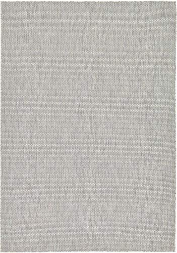 Unique Loom Outdoor Solid Collection Casual Transitional Indoor and Outdoor Flatweave Light Gray  Area Rug (7' 0 x 10' 0)