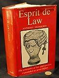 img - for Esprit de Law book / textbook / text book