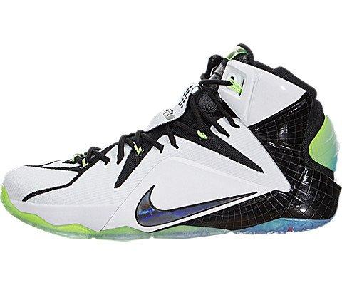 b55c03a58a506e Galleon - Nike Men s Lebron XII As White Multi-Color Black Basketball Shoe  10 Men US