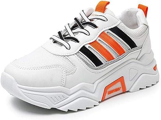 SHOES-HY Zapatillas de Deporte para Mujer Zapatillas de Running para Caminar atléticas de Malla Transpirable ultraligeras,Naranja,36: Amazon.es: Jardín