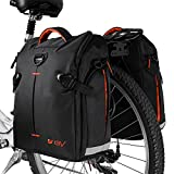 BV Bike Panniers Bags (Pair), Large Capacity, 14 L (each pannier), Black