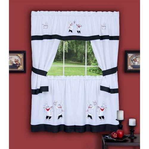 White Kitchen Curtains Amazon Com: Black And White Kitchen Curtains: Amazon.com