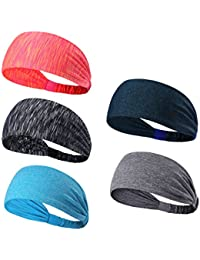 Headbands Head Wrap & Sports Wicking Stretchy Sweatband For Running, Crossfit, Yoga, Cycling, Working Out And More Headscarf fits all Men & Women