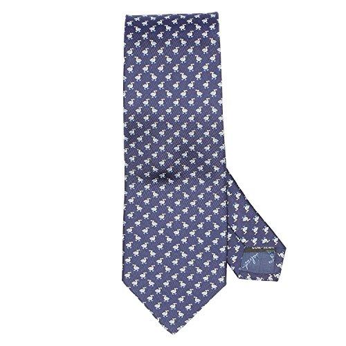 Salvatore Ferragamo Blue Duck Neck Tie by Salvatore Ferragamo