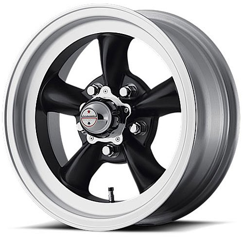 American Racing Custom Wheels VN105 Torq Thrust D Satin Black Wheel With Machined Lip (15x8.5''/5x114.3mm, -25mm offset)