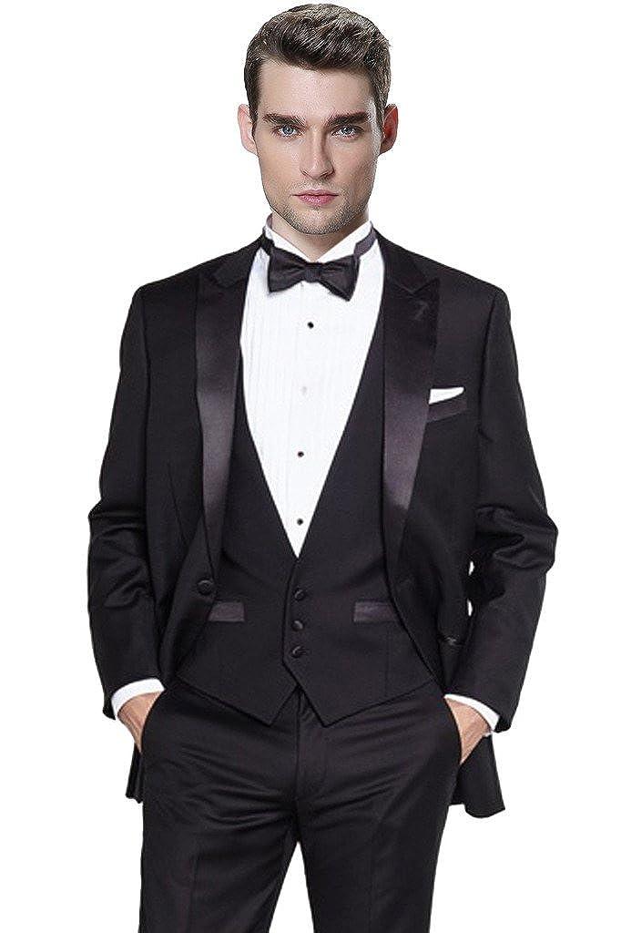 CMDC Men\'s Three Pieces Tuxedo Blazer Suits Separate Jacket & Trousers U167CMDC
