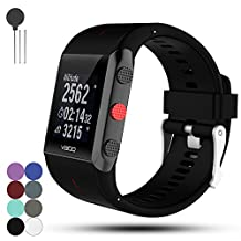 Polar V800 GPS Sports Replacement Watchband Strap - Feskio Soft Silicone Metal Clasp Watch Buckle Wrist Strap Watch Band Bracelet for Polar V800 GPS Sports Watch with Tools