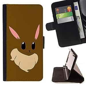 BullDog Case - FOR/Samsung Galaxy S3 III I9300 / - / Cute Funny Brow Bunny /- Monedero de cuero de la PU Llevar cubierta de la caja con el ID Credit Card Slots Flip funda de cuer