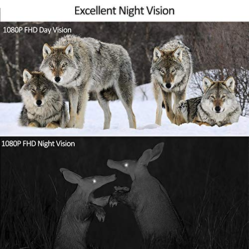 Trail Hunting Game Wansview Camera 16MP 1080P HD, with 0 2S Trigger Speed  and 120° Wide Viewing Angle, 70ft Detecting and Night Vision Range, IP56