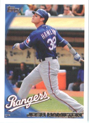 2010 Topps Baseball Card #175 Josh Hamilton Texas Rangers - Mint Condition - Shipped In Protective ScrewDown Display Case!