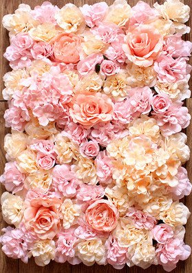 Amazon 40x60cm artificial silk rose flower wall decoration 40x60cm artificial silk rose flower wall decoration decorative silk hydrangea wedding decoration backdrop pink junglespirit Image collections