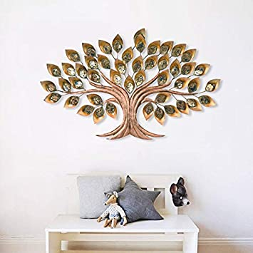Buy Collectible India Metal Wall Mounted Art Showpiece 45 X 28 Inch Golden Online At Low Prices In India Amazon In