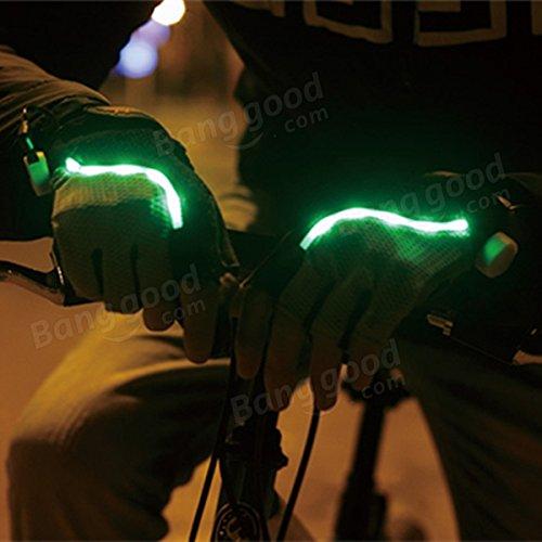 Moppi Bici bicicleta guantes de ciclismo LED guantes de iluminación media del dedo