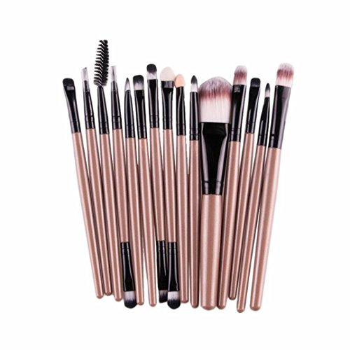 15 pcs/Sets Eye Shadow Foundation Eyebrow Lip Brush Makeup Brushes Tool (Makeup Bulk Wholesale)